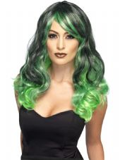 Ombre Wig In Green & Black